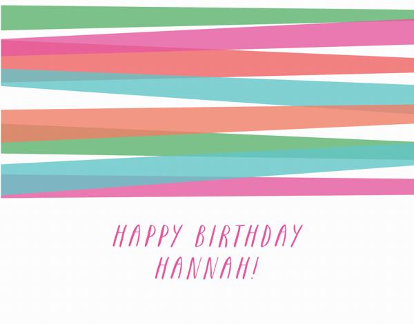Bright Stripes Birthday