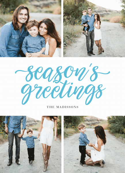 classic calligraphy seasons greetings photo template