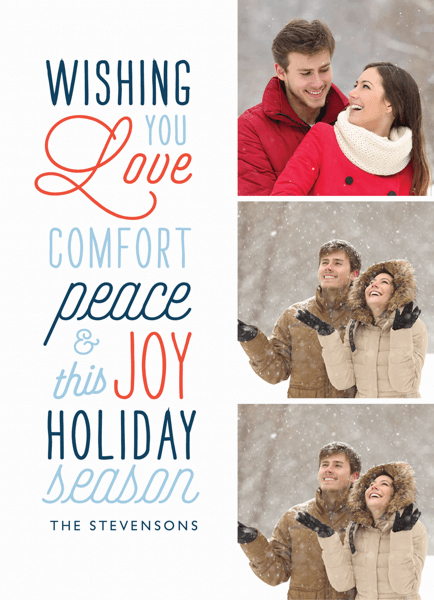 typography holiday photo collage