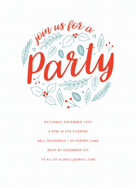 Floral Circle Winter Party