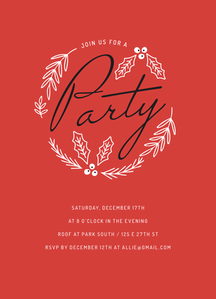 Red Holiday Party