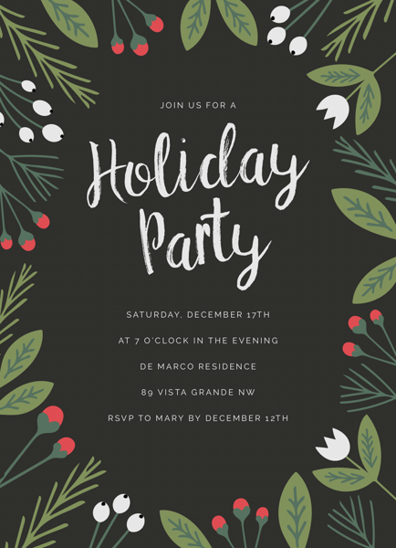 Winter Greens Party