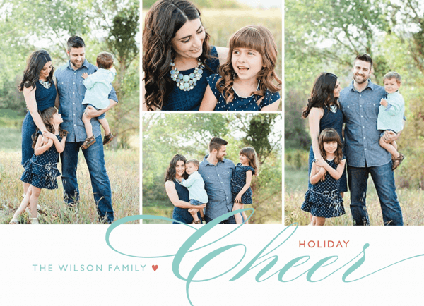 photo collage with scripted holiday cheer