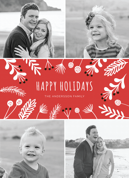 red-floral-photo-collage-holiday-card