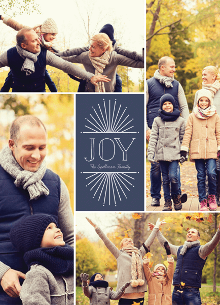 multi photo holiday template