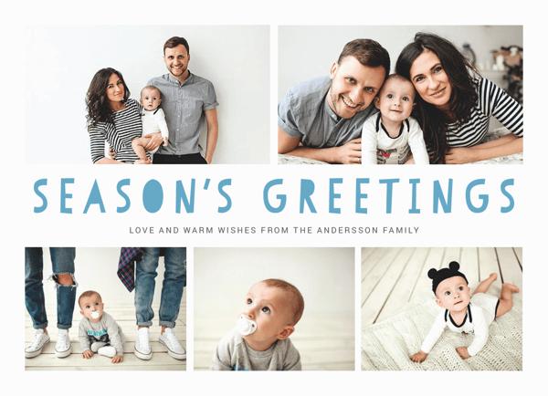fun holiday card with photos