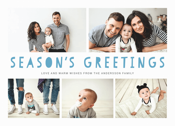 fun holiday card with photos