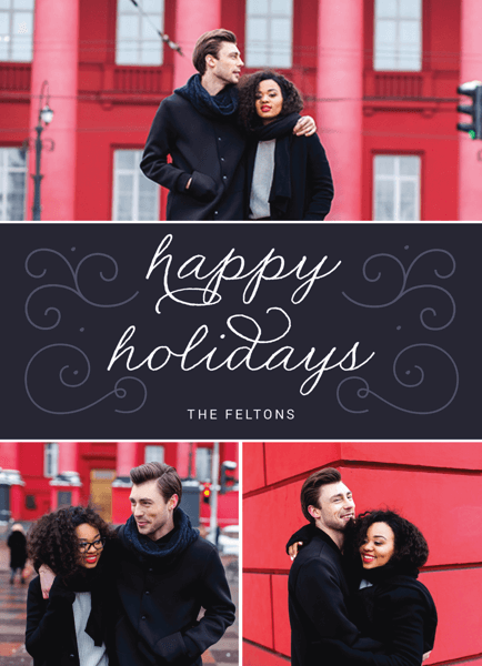 classic holiday card with multiple photos