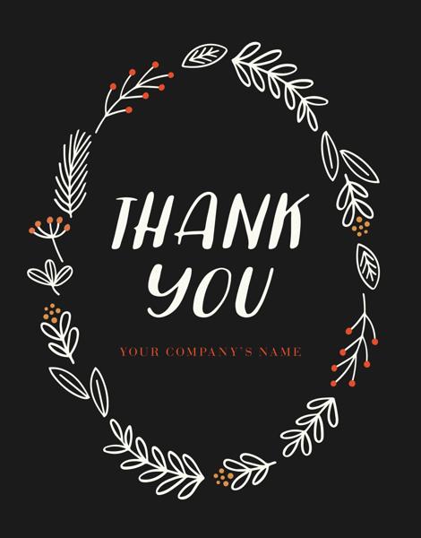 Thank You Fall Wreath
