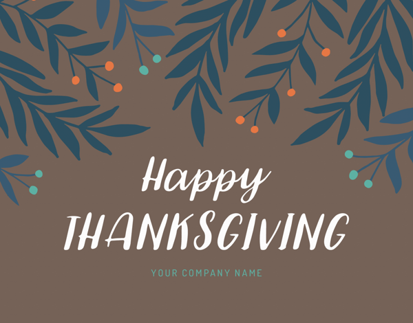 happy thanksgiving greeting card for clients