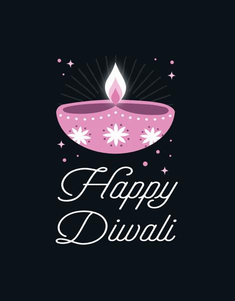Diwali Pink Lights