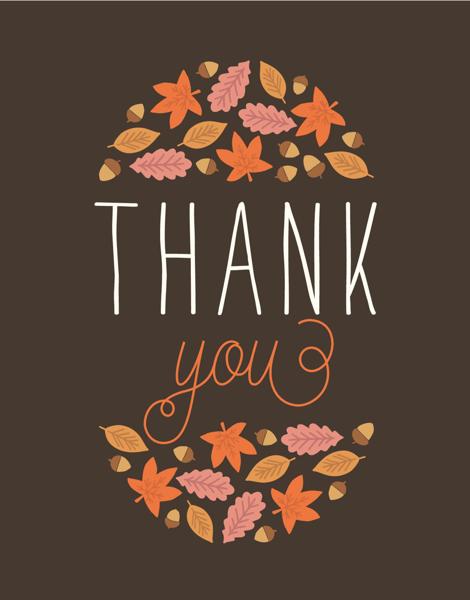 Thank You Foliage