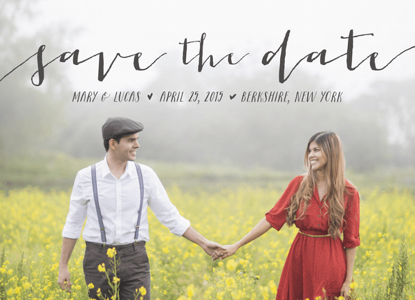 Sweet Script Save the Date