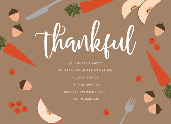 Thankful Table Party