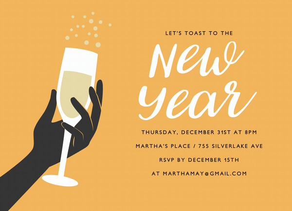 Champagne Invite