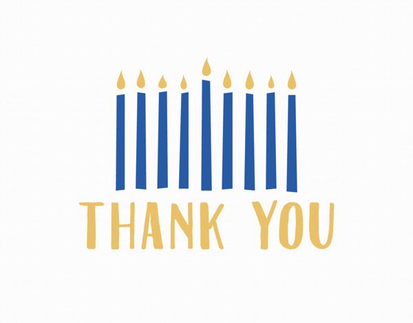 Thank You Hanukkah Candles
