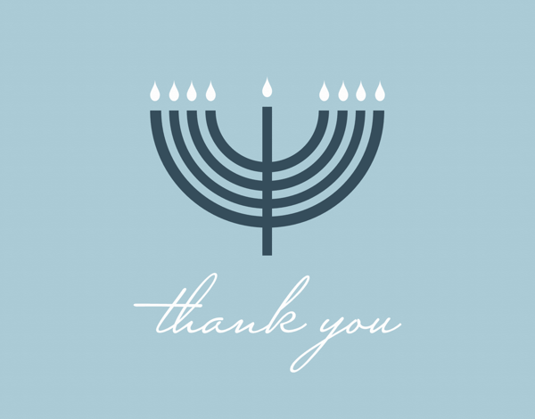 Thank You Menorah