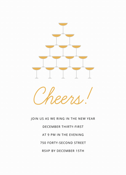 Cheers Champagne Invite