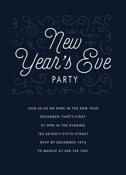 Ornamental Party Invite