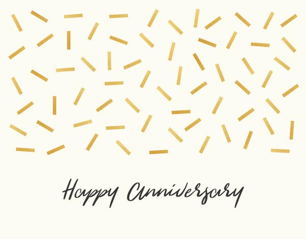 Gold Confetti Anniversary
