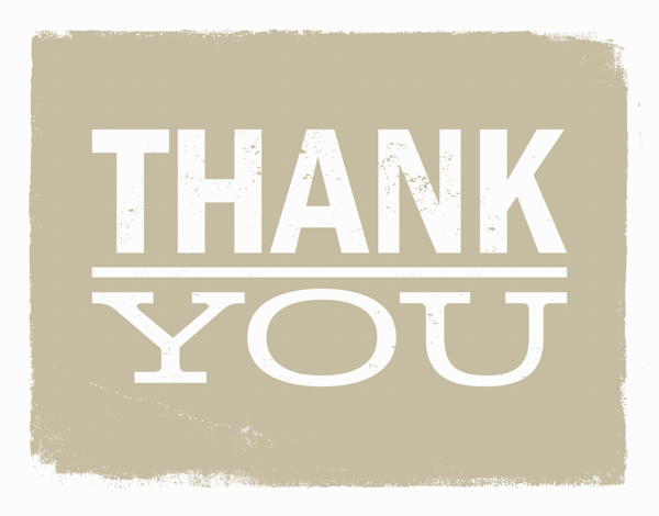 Rustic Thank You