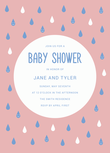 Baby Shower Rain Drops