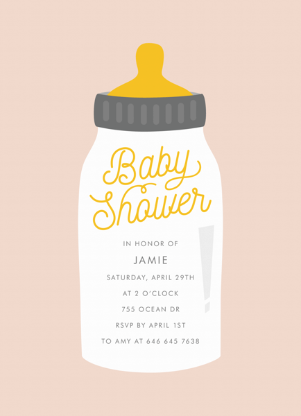 Baby Shower Bottle