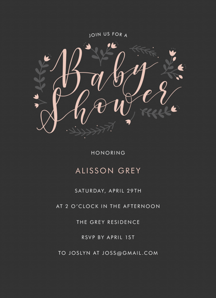 Baby Shower Floral Circle