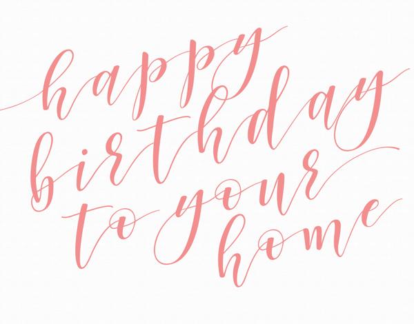 Happy Home Birthday