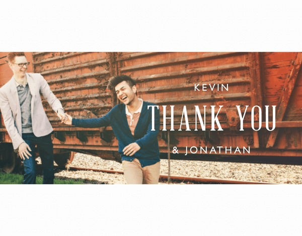 Cropped Custom Thank You Note
