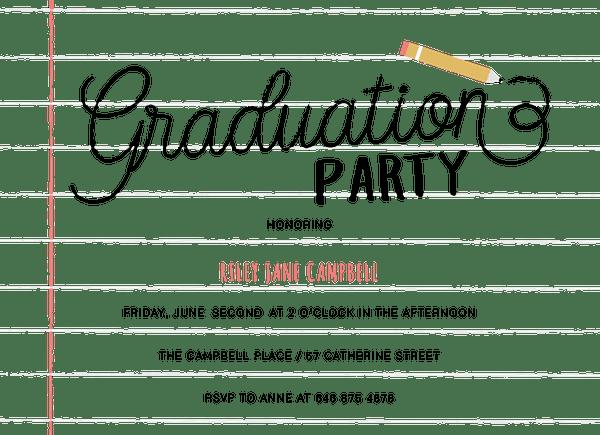 Notebook Graduation Party
