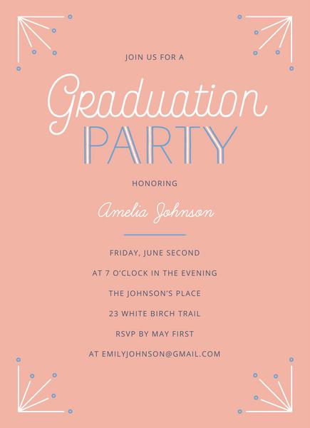 Pink Deco Graduation