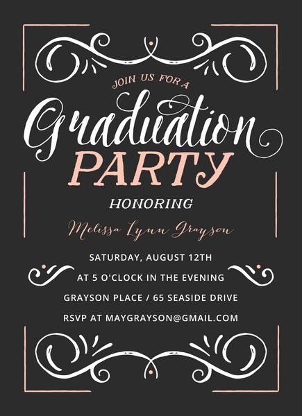 Vintage Grad Party Invite