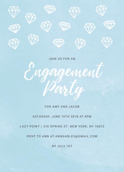 Blue Engagement Party