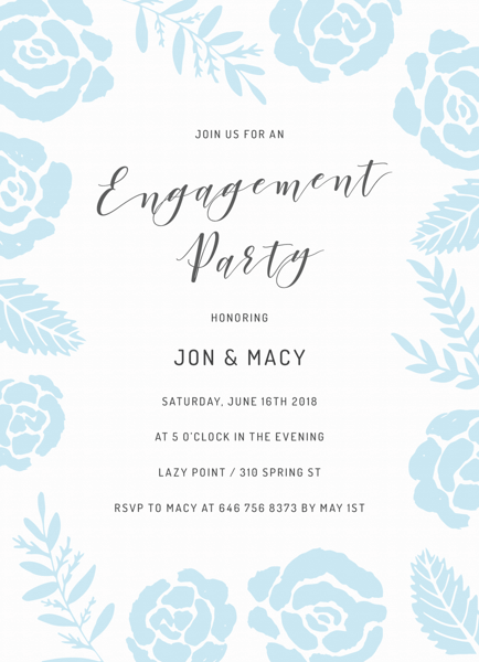 Roses Engagement Party
