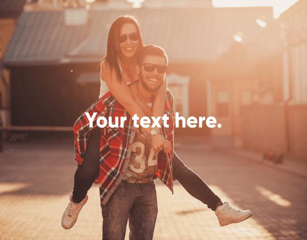 Custom Message Photo