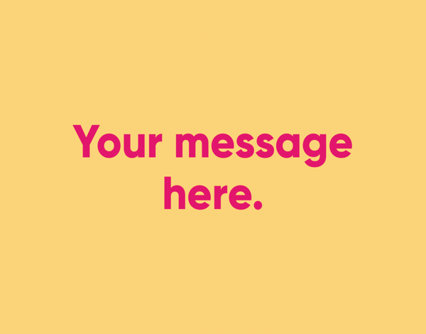 Your Message Yellow