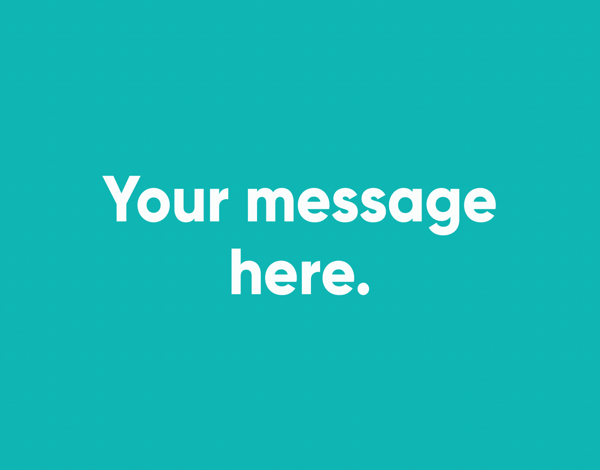 Your Message Green