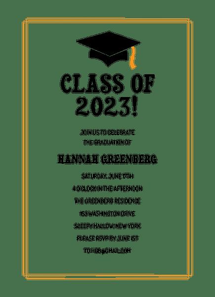 Classic Graduation Invite