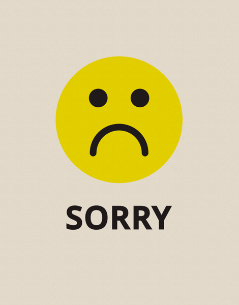 picture regarding Printable Sorry Card identified as Im Sorry Playing cards Postable