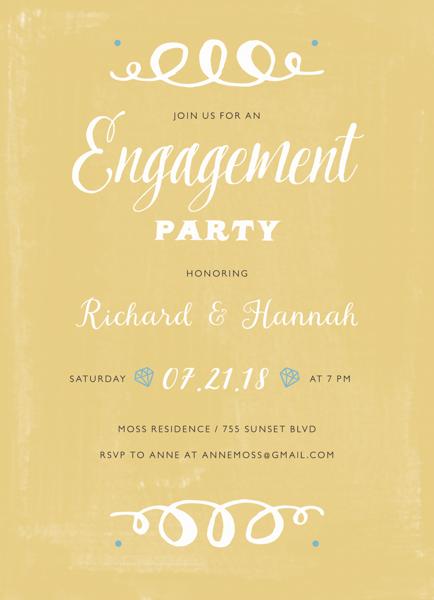 Yellow Vintage Engagement