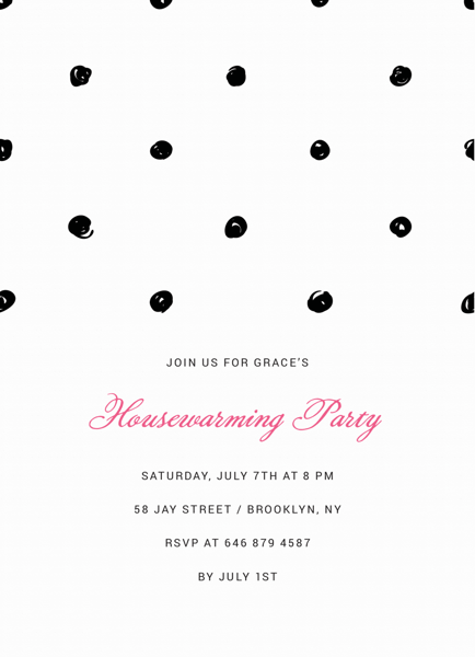 Polka Dot Housewarming