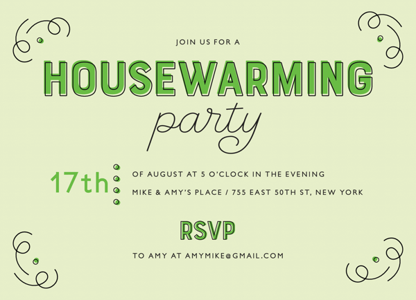 Green Print Housewarming