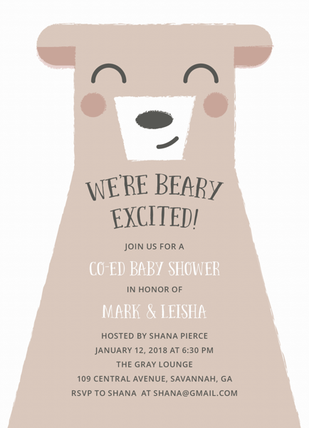 Beary Excited Co-Ed Shower