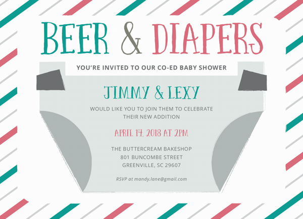 Beer & Diapers Co-Ed Baby Shower