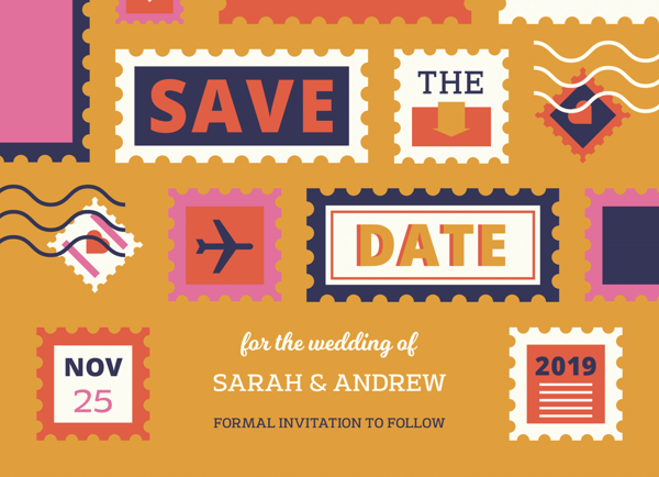 Stamps Save The Date