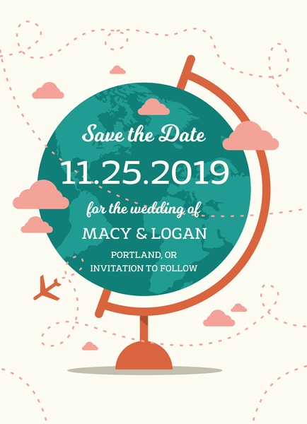 Globe Save The Date