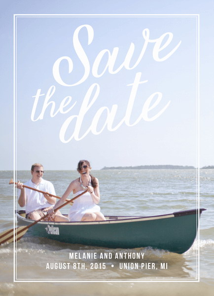 Charming Border Save The Date