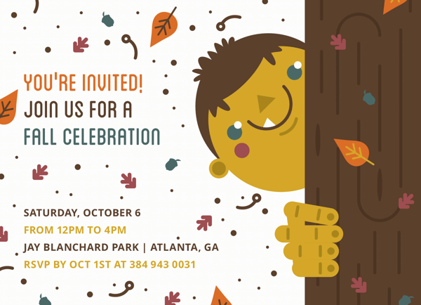 Fall Party Invite