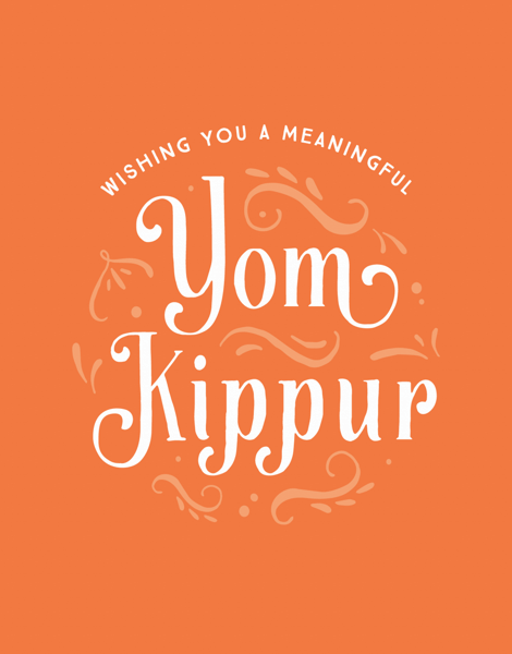 Orange Deco Yom Kippur